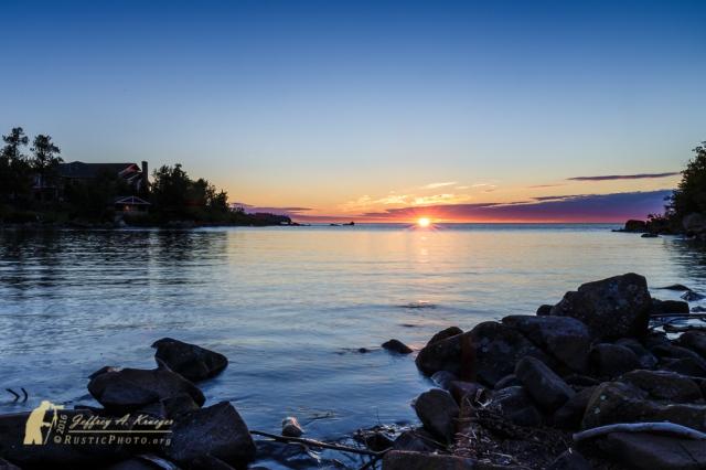 Sunrise Over the Cove